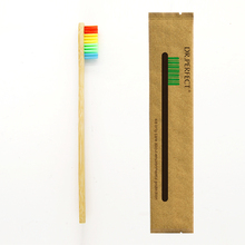 1 Piece Three Color Bristle Bamboo Toothbrush Wood toothbrush Novelty Bamboo soft-bristle Capitellum Bamboo Fibre Wooden Handle