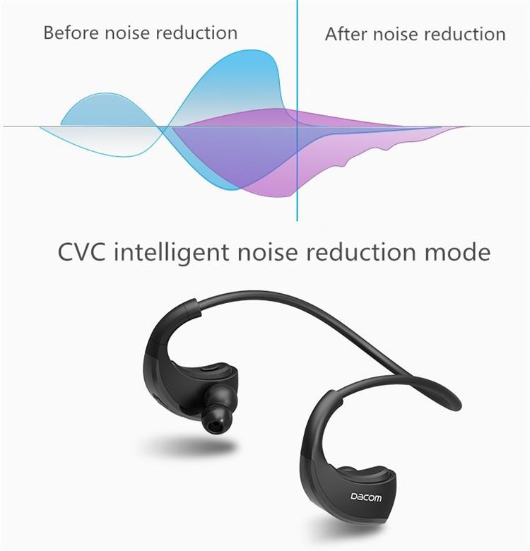 Dacom Armor Bluetooth V4.1 Stereo Headphones IPX5 Waterproof Wireless Outdoor Sports Headset Handsfree Music Earphone With Mic(10)