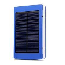 General Portable Solar Powerbank 7500mAh Dual USB Solar Battery Charger Aluminum Alloy Housing Power Bank With LED Light