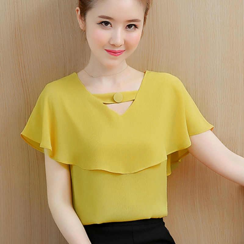 a0a45f70622 Для женщин s Топы и шифоновые летние блузки блузка женская одежда дамы  топы