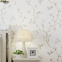 beibehang papel de parede American pastoral cherry tree Wallpaper For Living Room Mural non woven white Wall Paper wall covering