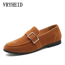 VRYHEID 2019 Brand Men Banquet Loafers Luxury Leather Shoes Fashion Informal Dress Mens Casual Business Party Suede