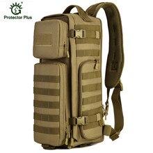 HOT! High Quality Nylon Tactical Chest Bag Mens solid zipper casual shoulder school bags men crossbody bag Men Messenger