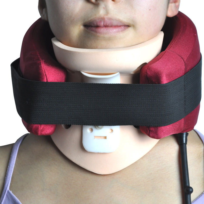 Neck support Pain Relief Air Traction Therapy vertebra neck brace treatment muscle strain instrument Cervical Collar Health Care neck support braces household cervical collar air traction therapy device relax pain relief tool universal size health care