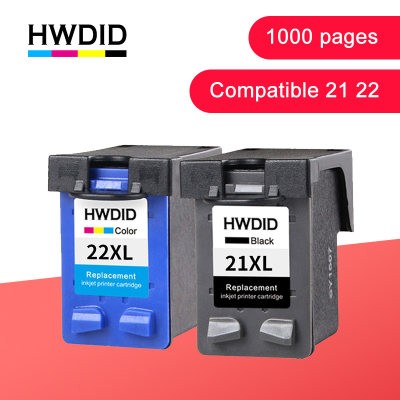 HWDID 21 22 Printer Cartridge  For HP/hp21 For HP/hp 21 Xl For Ink Cartridge Deskjet F2180 F2200 F2280 F4180 F300 F380 380 D2300