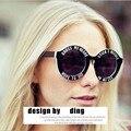 New designer de moda da marca engraçado rodada oversized sunglasses unisex cruzar meu coração óculos de sol holland house óculos de sol do punk