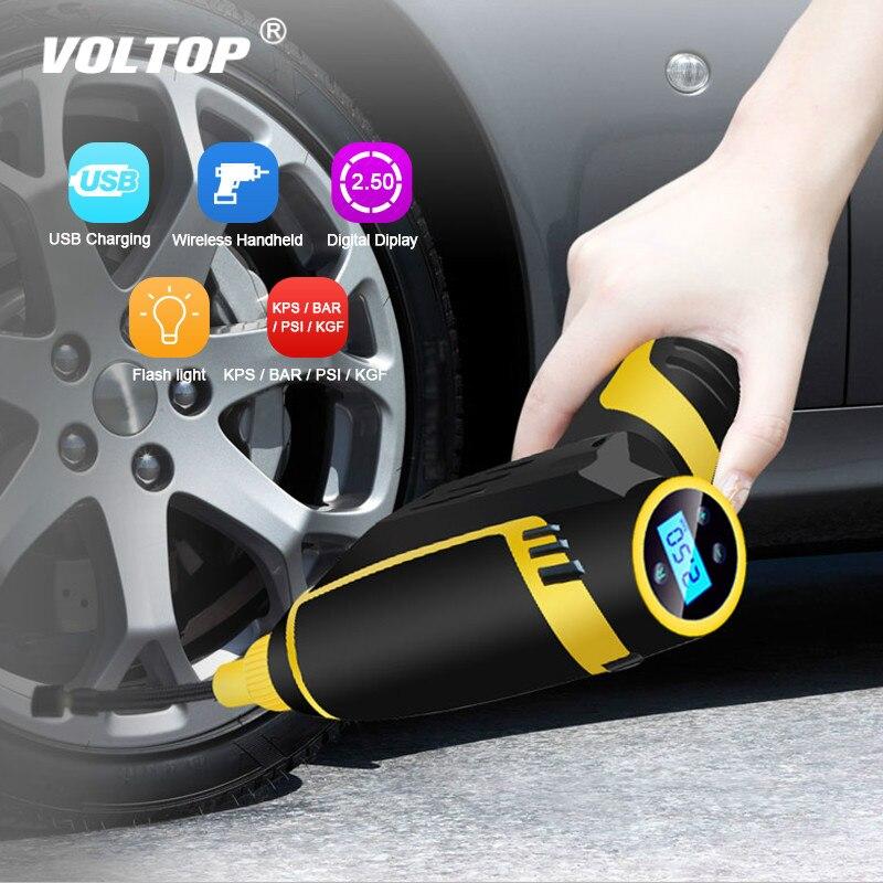 Voiture gonflable pompe pneu compresseur gonfleur pneu voiture Air compresseur pompe USB charge sans fil portable électrique 120 w numérique