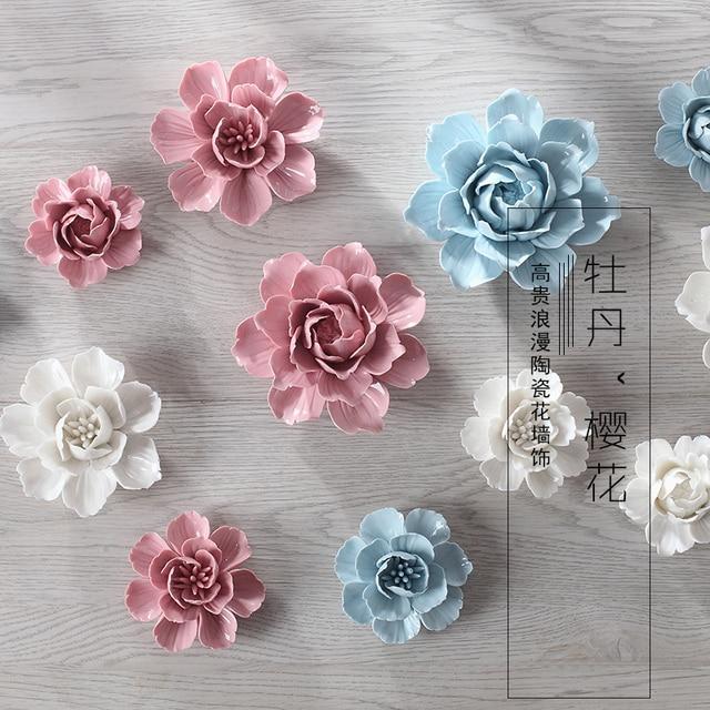 Пион вишня декоративные настенные цветок посуда фарфор декоративные тарелки старинные домашнего декора ремесленных ремесел украшения комнаты