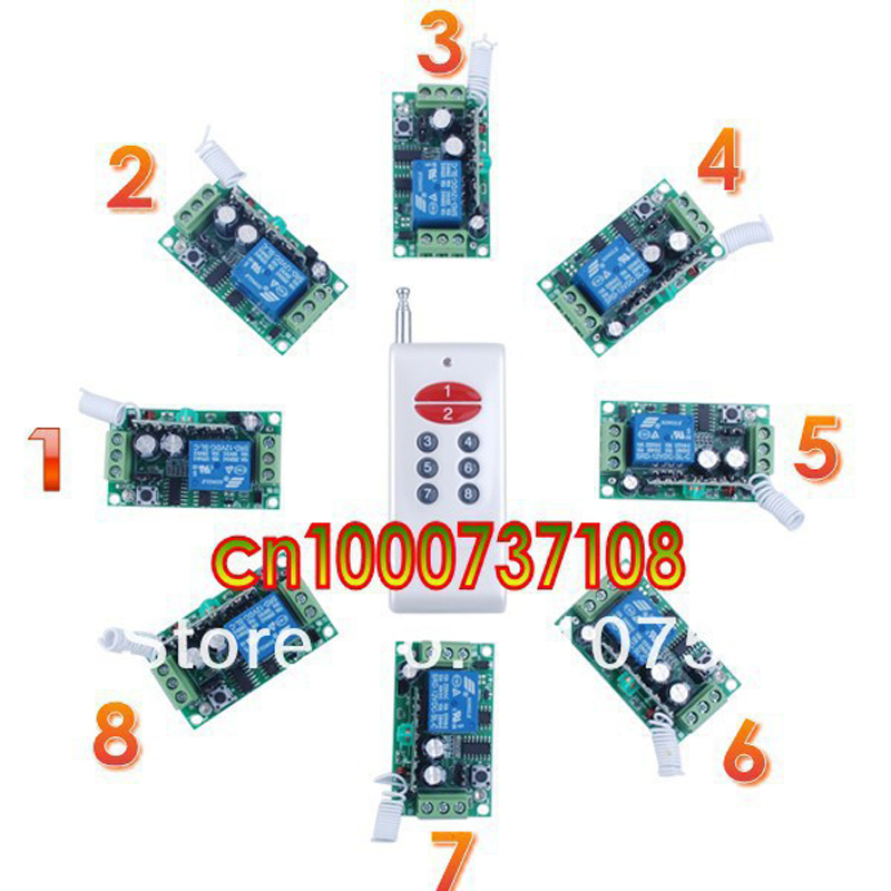 ФОТО DC12V10A 1CH Wireless Remote Control Switch System Smart home control system Light control