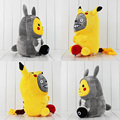 Anime Cartoon Cute Pikachu Cosplay Totoro & Totoro Cosplay Pikachu Plush Dolls Keychain 35cm Soft Stuffed Gift For Christmas