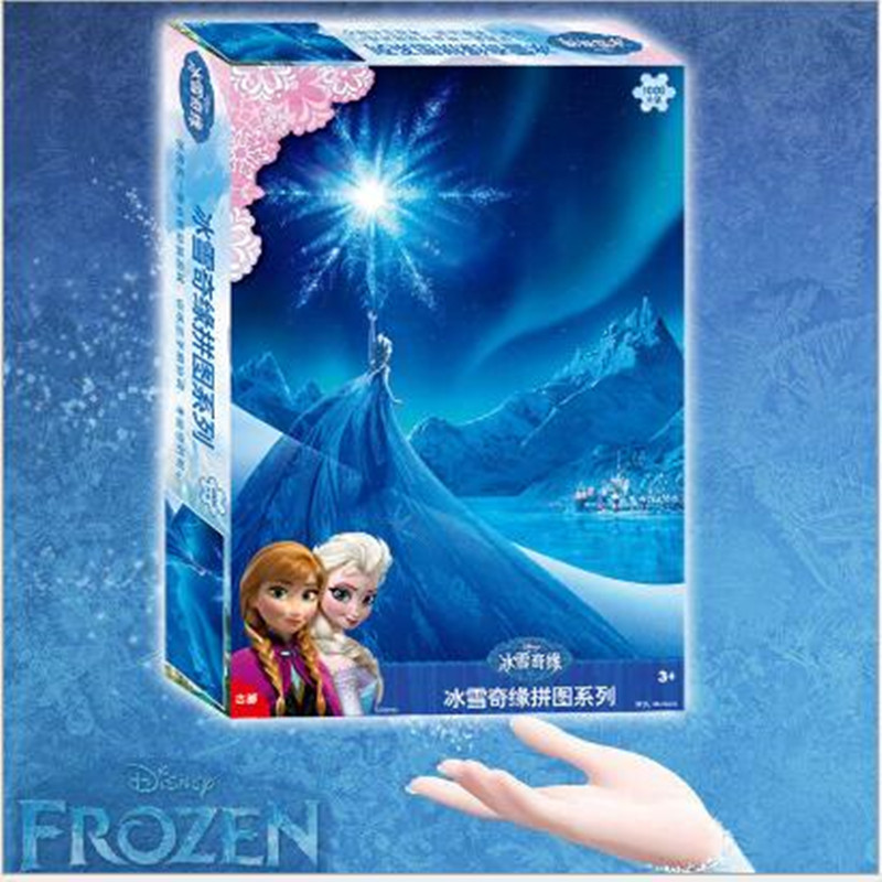 Genuine Disney Frozen Romance 1000 Piece Adult Puzzle Paper Boxed Puzzle Puzzle Parent-child Toy Gift Toy for Children puzzle 1000 парижская горгулья кб1000 6851