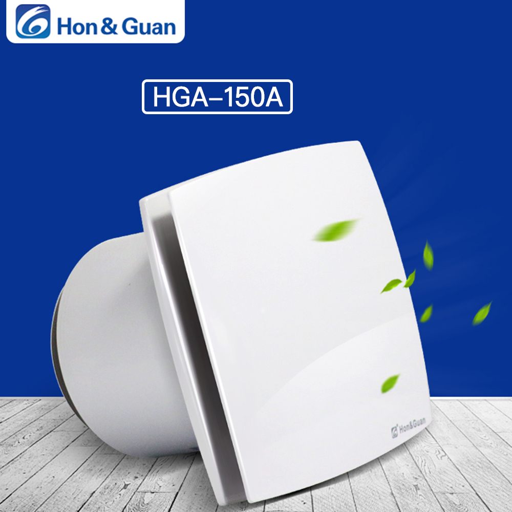 Hon Guan 6 150mm Home Ventilation Fan Bathroom Garage Exhaust Fan Wall Mount Strong Exhaust Ultra