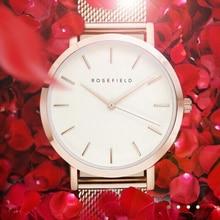 Luxury Brand ROSEFIELD Women's Watches Fashion Ladies Wristwatch Fashion Stainle