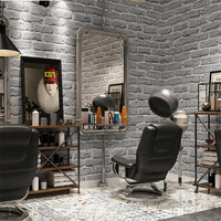 beibehang Retro white brick wallpaper antique gray brick clothing store industrial wind barber shop wallpaper papel de parede