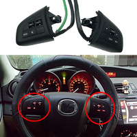 Steering Wheel Button With Cable Bluetooth Phone Audio Volume Control Switch For Mazda 3 2010 cx 5 cx 7 Multi functional