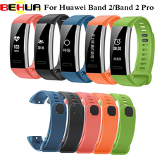 лучшая цена Replacement wrist band watch strap for Huawei Watch silicone rubber watchband accessories for Huawei band 2 B19/B29 pro strap