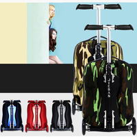 New Fashion EVA Scooter Rolling Luggage women Red Trolley 20' Boarding Box Men Carry On Travel Bag Student Suitcase Card Trunk