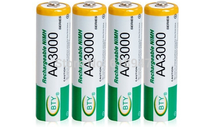 free shipping BTY 16pcs 1.2V 3000 mAh Rechargeable AA