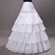 Long Wedding Bridal Petticoats for Wedding Dress Hoop A Line Crinoline Petticoat jupon anagua enaguas novia LY40