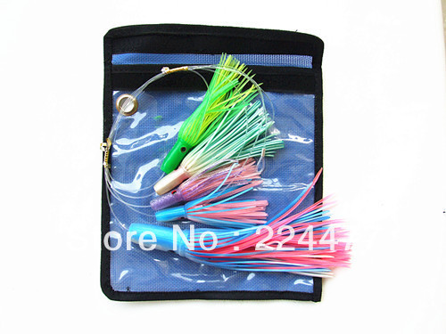 Free Shipping-5pcs Combination Daisy Chain Rigged Big Game Trolling Fishing Bait Sea Tuna Fishing Bait rigged custom big game marlin tuna hawaiian deep sea trolling lure