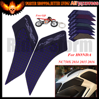 For HONDA NC750X 2014 2015 2016 3M+silica gel Motorcycle Tank Pad Protector Sticker Decal Gas Knee Grip Tank Traction Pad