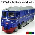 Aleación de modelos de trenes, 1: 87 aleación tire hacia atrás del tren, clásico regalo de los niños, tren funde y Automóviles de Juguete, envío gratis