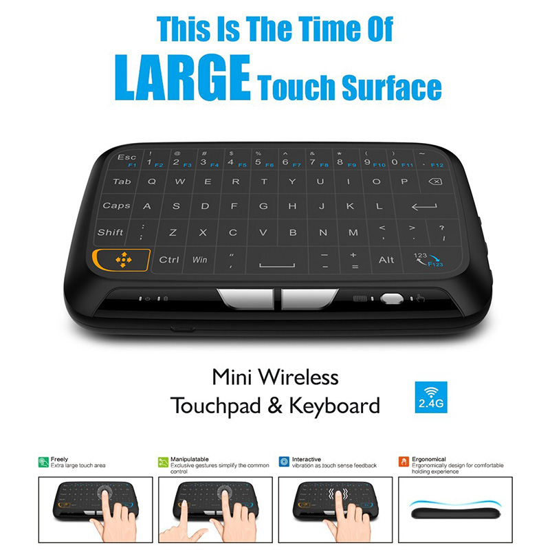 Portable 2.4G Mini Wireless Keyboard Touchpad Air Mouse for Android Google Smart TV PC SL@88 2 4g mini wireless keyboard mouse with touchpad for pc android tv htpc