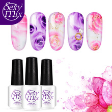 Sexy Mix 2017 Newest 7ml Blossom Gel Polish Soak off UV Nail Art Painting Gel Lacquer Magic Blooming Color UV Nail Gel Varnishes