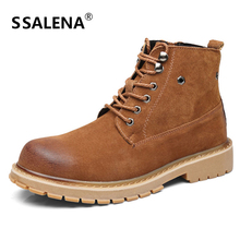 Men Lace-Up Round Toe Boots Male Winter Comfortable Leather Oxfords Boots Men Vintage Stylish Fashion Shoes High Quality AA51585