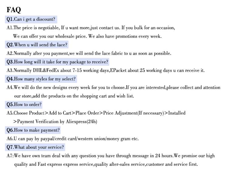 FAQ 1