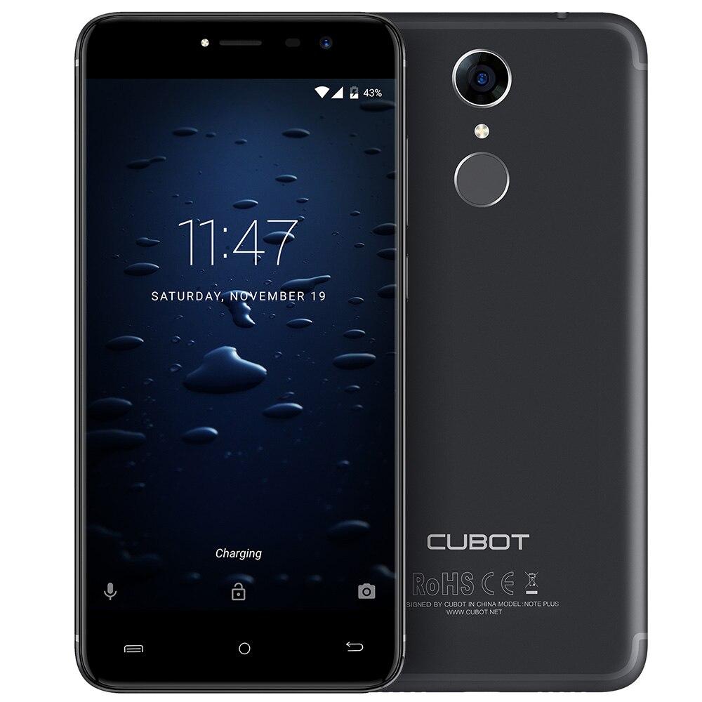 Cubot Note Plus 4G Smartphone 5.2 Inch Android 7.0 MTK6737T Quad Core 3GB RAM 32GB ROM 13.0MP Rear Camera Fingerprint Scanner