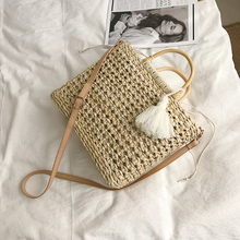 Summer Women's Handbag Women Shoulder Bag 2019 Straw Bag 2019 New Fashion Cross Body Messenger Rattan Bags Totes For Woman White