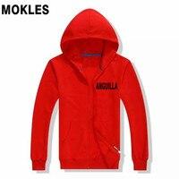 Anguilla Austria Pakistan Paraguay Brazil male youth student boy custom name thin zipper hoodie trend Leisure wild sweatshirt