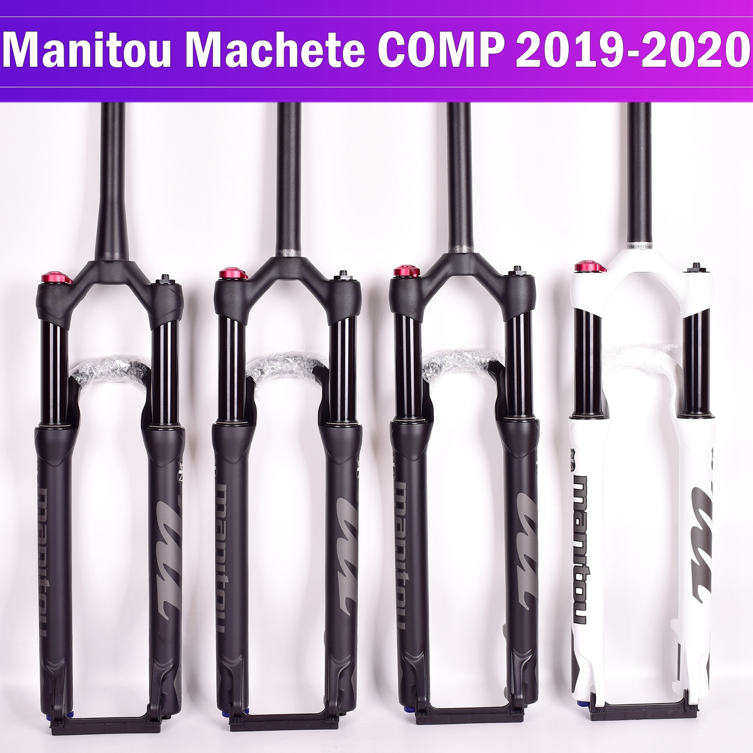 Bicycle fork Manitou Machete COMP bicycle suspension mountain bike MTB air fork 27.5inch 29er Manual control remote lock 100*9MM image