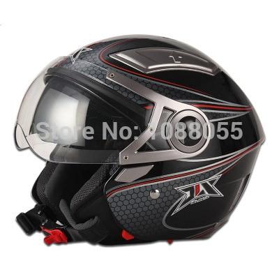 ФОТО 2014 new Double Visor capacete Motorcycle Helmet Half Face Racing Helmet With inner sunglasses jet helmet scooter helmet