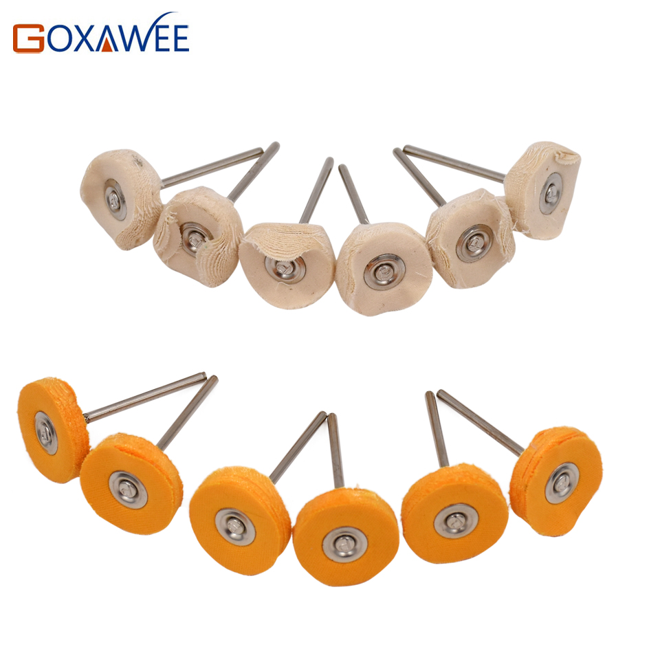 GOXAWEE 10tk Dremel aksessuaarid Poleerimisrattad Puhastuspadjad Abrasiivtööriistade pintsel Dremeli pöörlevate tööriistade jaoks poleerimispadjad