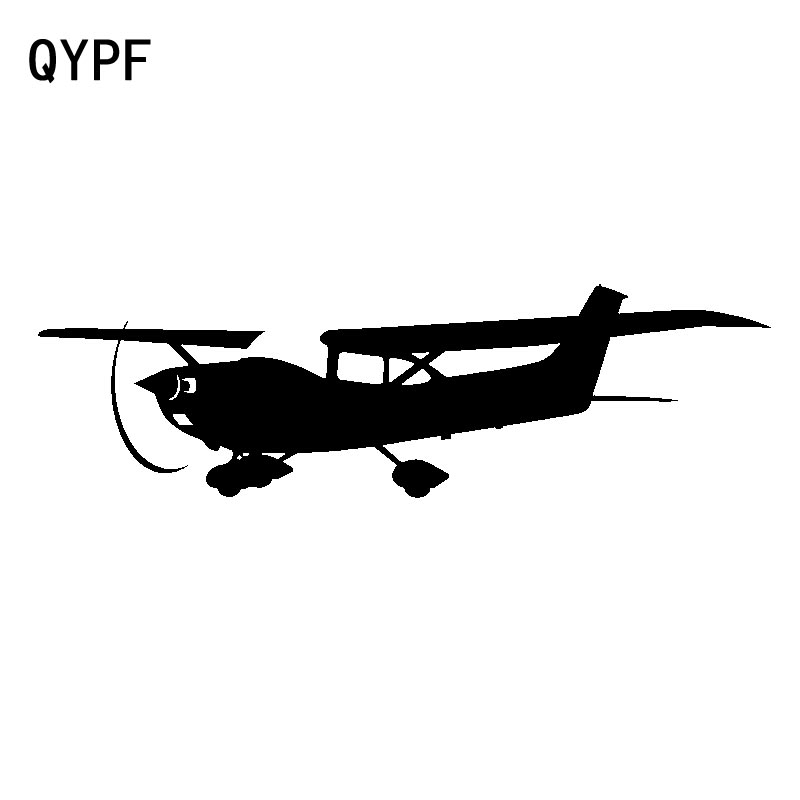 QYPF 18.3cm*5.5cm Diaphanous Open-air Children's Interesting Small Aircraft Vinyl Car Sticker Durable Decal C18-0638