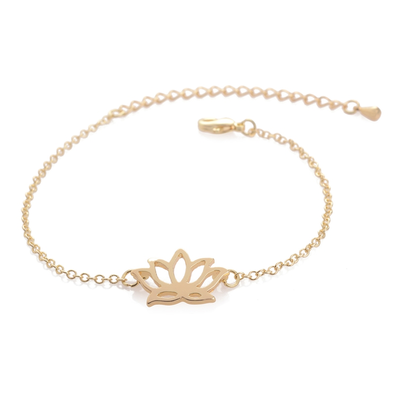 Detail Feedback Questions About Oly2u 10pcs B002 Mix Gold Silver Lotus Bracelet Flower Plant Bracelets For Women Elegant Simple Pretty Cute Bangle On