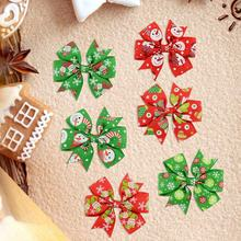 Xmas Baby Hair Bands Hair Bows Infant Headband Children Girls Christmas Headdress Elastic Present Christmas Ornaments Decoration(China)