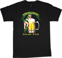 shirt Irish beer pin-up girl tee plus size big tall Mens T-Shirt Summer O  Neck Cotton 2e133443d147
