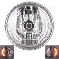 8 Universal Motorcycle Headlight Headlamp LED Turn Signal Light For Harley Davidson Bikes Curisers Choppers Custom