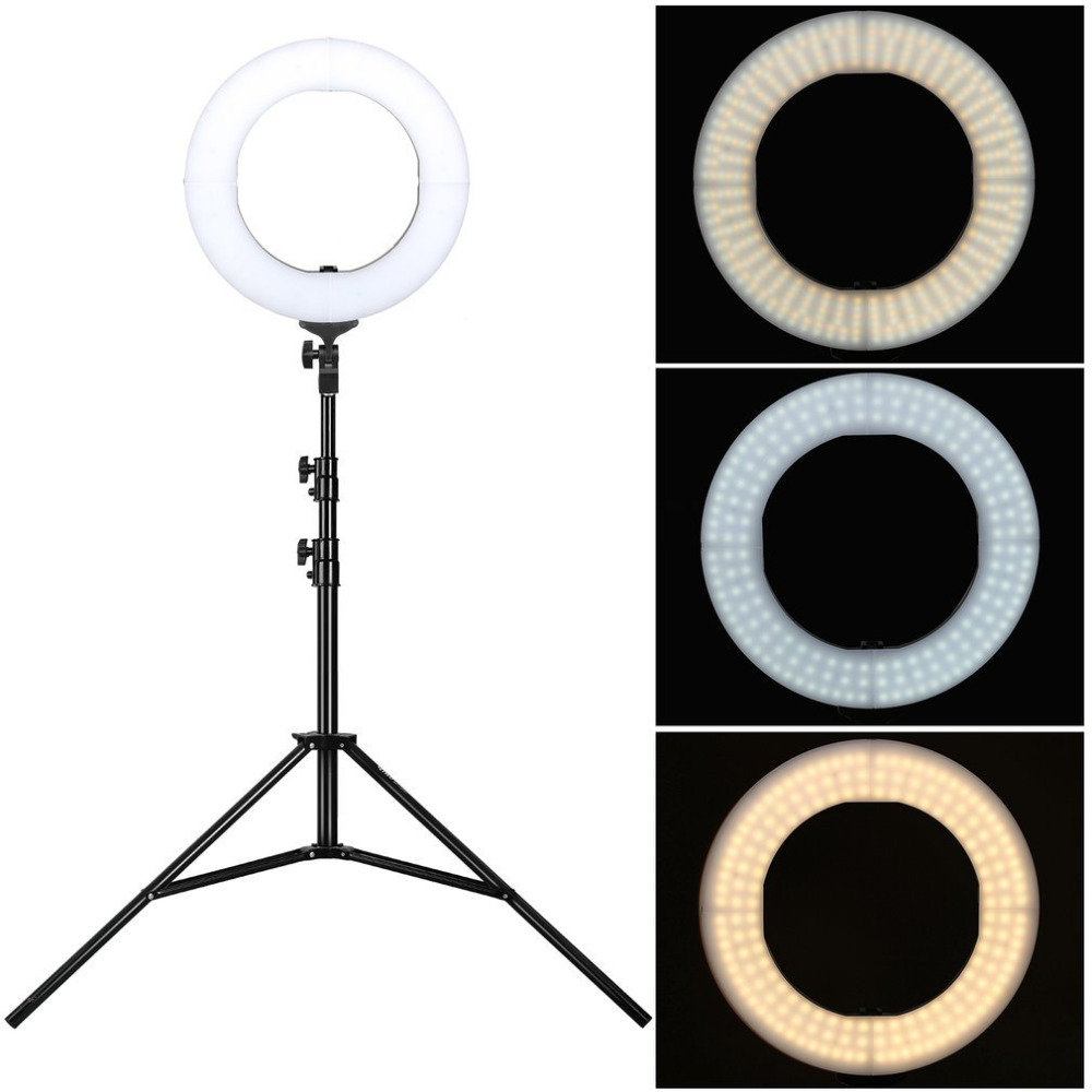 ZOMEI Camera Photo/Video Outer 240 Pieces LED SMD Ring Light Ring Video Light + 50CM Foldable Stand Set EU Plug