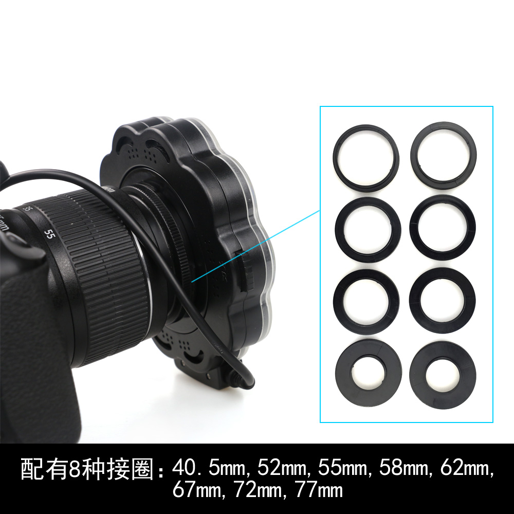 New Macro Led Ring Light with Adapter ring for Nikon D5100 D3100 Series Canon 5D Photography 13