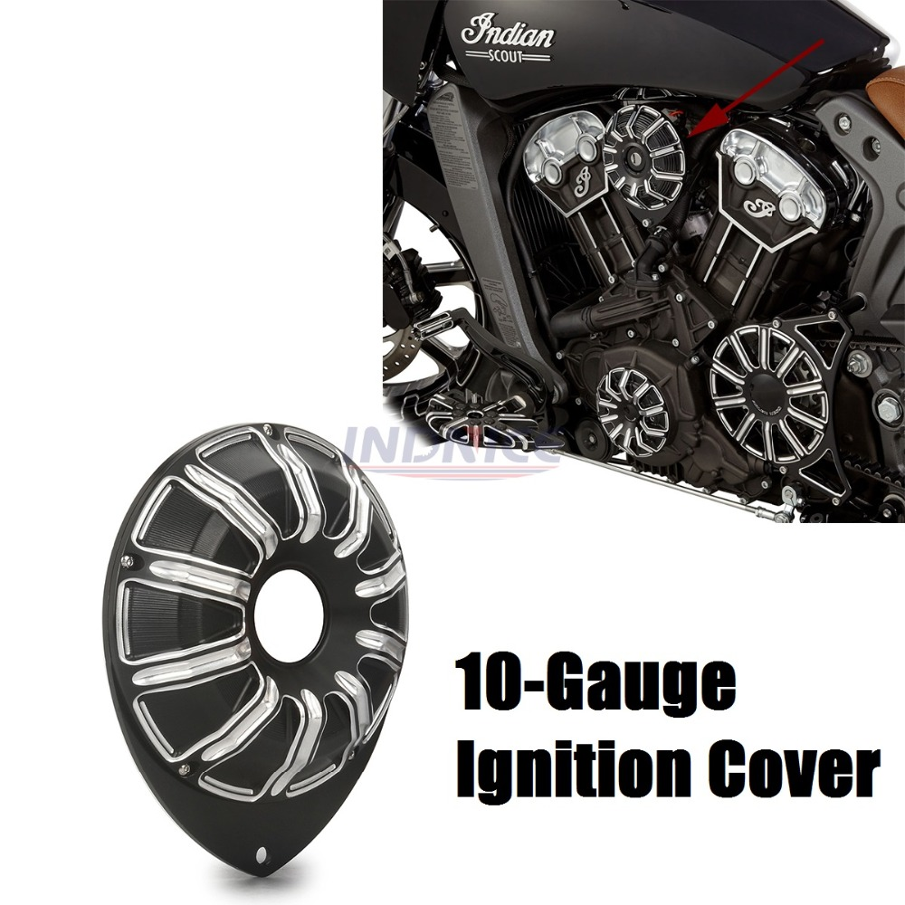 10-Gauge Ignition Cover For Indian Scout motorcycle Ignition Cover scout indian black cover тестер агрессор agr test 21 цифровой 2в1 жк дисплей акб генератора