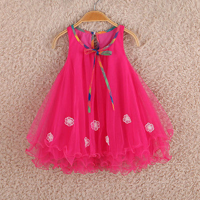 2016 Summer style girl dresses for 2 7 years Princess Party Kids clothes Child wear toddler tutu baby girls dress with lace girl dress 2 7y baby girl clothes summer cotton flower tutu princess kids dresses for girls vestido infantil kid clothes
