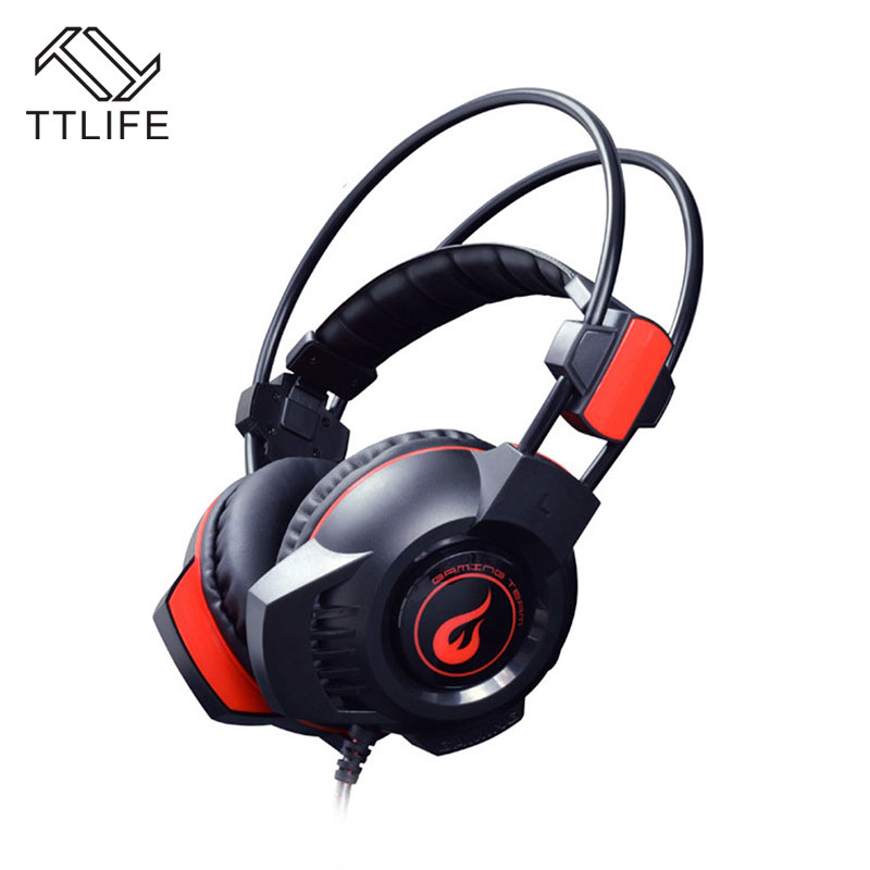 TTLIFE Cool Gaming Headphone High Quality Pro Game Headset Stereo Vibration Breathing LED Light With Mic For PC Gamer Dota LOL plextone stereo game headsets vibration bass computer gaming headphone with breathing led light mic for pc gamer