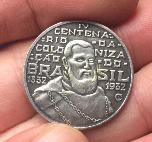 1900 Brazil 2000 Reis coins COPY