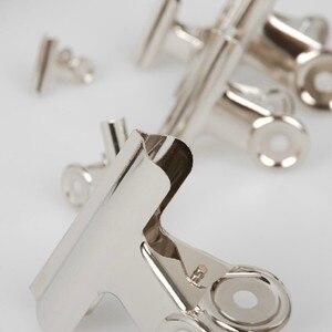 Image 2 - Ücretsiz Kargo (36 adet/grup) 51mm yuvarlak üst Kavrama Klipler Bulldog klip paslanmaz çelik kağıt klip Ofis tedarik metal fatura klip
