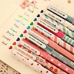 10 pcs lot new cute cartoon colorful gel pen set kawaii korean stationery creative gift school.jpg 250x250