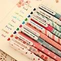10 unids/lote Nueva Lindo de la Historieta Colorida Gel Pen Set Kawaii Corea Papelería Creativa Regalo Material Escolar 04035